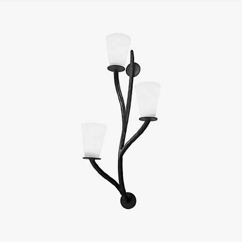 3 BRANCHES Wall sconce