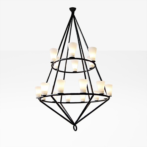 DOUBLE CAGE Chandelier